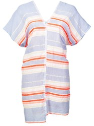 Lemlem Fiesta Striped Mini Dress Pink
