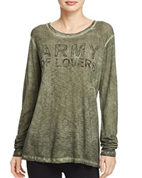 Sundry Army Of Lovers Tee Oilwash Army