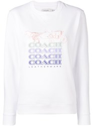 Coach Shadow Rexy And Carriage Sweatshirt White