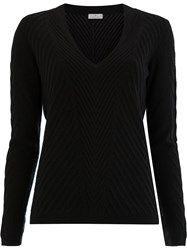 Maison Ullens Ribbed Knitted Jumper Black