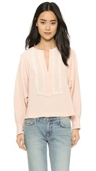 See By Chloe Blouse With Embroidery Rose Whisper