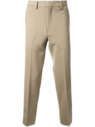 Cityshop Casual Side Stripe Trousers Brown