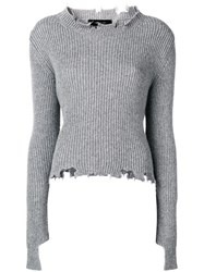 Federica Tosi Destroyed Sweater Grey