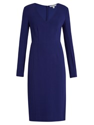 Diane Von Furstenberg Milena Dress Dark Blue