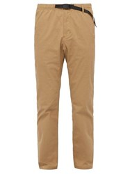 Gramicci Belted Stretch Cotton Twill Trousers Beige