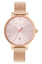 Ted Baker Women's London Kate Round Mesh Strap Watch 38Mm