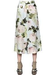 Antonio Marras Floral Printed Cotton Poplin Pants