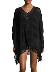 Amita Naithani Crochet Trimmed Cover Up Caftan Black