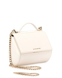 Givenchy Pandora Box Mini Chain Shoulder Bag Ivory Men's