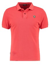 Blauer Polo Shirt Red