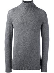 Roberto Collina High Neck Jumper Grey