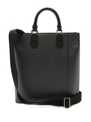 Dunhill Engine Turn Coated Canvas Tote Bag Grey