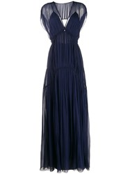 Alberta Ferretti Pleated Evening Dress 60