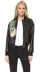 Versus Leather Jacket Black Multi