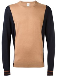 Paul Smith Colour Block Sweater Nude And Neutrals