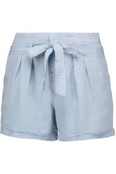 W118 By Walter Baker Madison Chambray Shorts Sky Blue