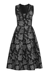 Topshop Gothic Jacquard Mini Dress Black