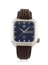 March La.B Square Electric Watch With Leather Band