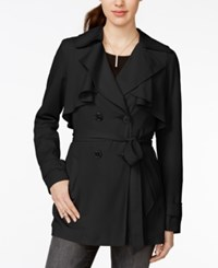 Bar Iii Double Breasted Ruffled Trench Coat Only At Macy's