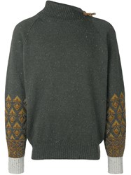 Versace Vintage 1980'S Turtleneck Jumper Green