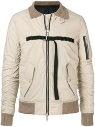 Unravel Project Ribbed Collar Jacket Nude And Neutrals