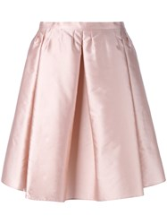 Red Valentino A Line Skirt Pink Purple
