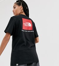 The North Face Red Box T Shirt In Black