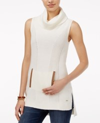 Tommy Hilfiger Blair High Low Sleeveless Tunic Only At Macy's Snow White Print