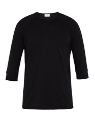 The White Briefs Anchovy Organic Cotton T Shirt Black
