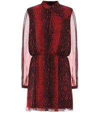 Amiri Printed Silk Minidress Red