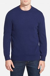 Men's Big And Tall Nordstrom Cashmere Crewneck Sweater Navy Iris