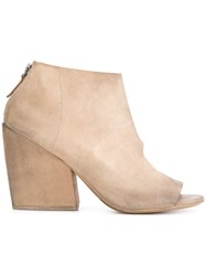 Marsell Cut Out Ankle Boots Nude Neutrals