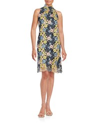 Erin Fetherston Cori Floral Lace Dress Navy Multi