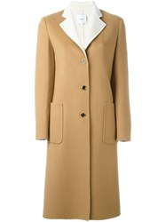 Agnona Buttoned Mid Length Coat Brown