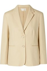 The Row Lobton Cotton Blend Blazer Beige