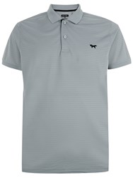 Wolsey Shadow Stripe Regular Fit Polo Shirt Grey