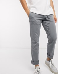 Boss Schino Slim Fit Trousers In Grey