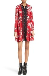 The Kooples Women's Floral Print Silk Fit And Flare Dress
