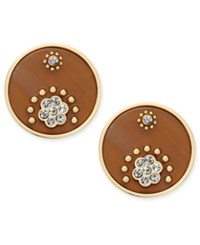 Kate Spade New York Out Of Her Shell Gold Tone Tortoiseshell Look Disc Earrings Multi