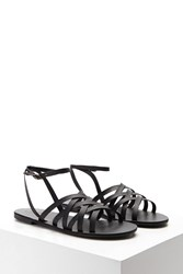 Forever 21 Strappy Faux Leather Sandals