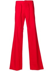 Romeo Gigli Vintage Loose Fit Drawstring Trousers Red