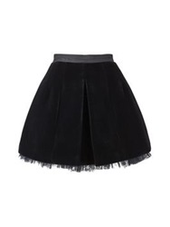 Marc By Marc Jacobs Semona Velvet Skirt Black