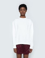 Adidas By Alexander Wang Logo Crew In Core White