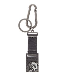 Diesel A Key Sunrise Up Mohican Head Key Ring Black