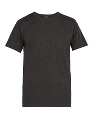 A.P.C. Road Cotton Crew Neck T Shirt Grey