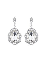 Mikey Oval Crystal Filigree Surround Earring