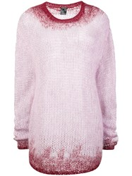 Ann Demeulemeester Ombre Knit Jumper Pink And Purple