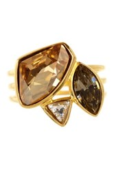 Candela Gold Plated Sterling Silver Multicolor Swarovski Crystal Accented Ring