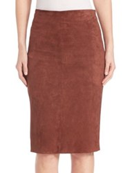 Brunello Cucinelli Stretch Suede Pencil Skirt Hennessy