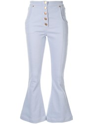 Alice Mccall Peace Bell Bottom Jeans Blue